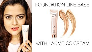 Lakme 9 To 5 CC Cream | How To Get Foundation Like Flawless Makeup Base With Lakme CC Cream | Demo