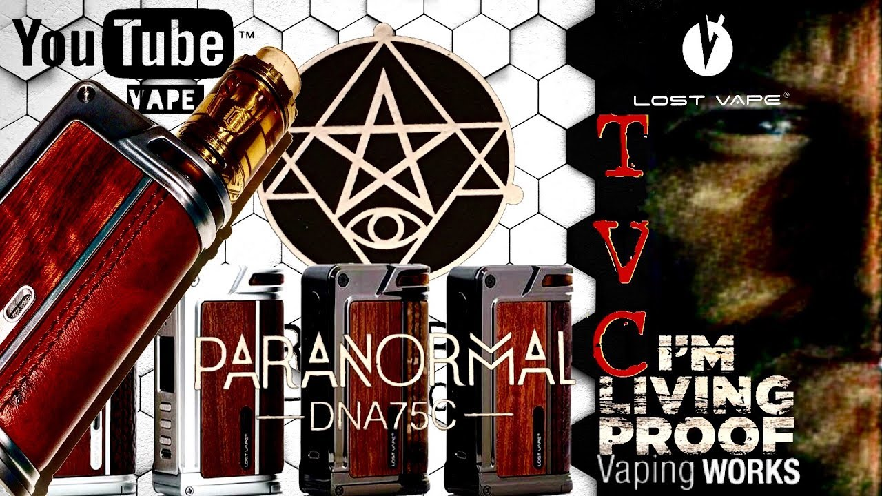 Lost Vape Paranormal Dual 18650 DNA 75C Color Screen Box Mod On TVC
