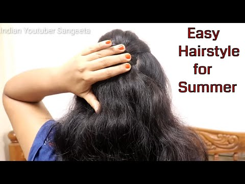 hairstyles for summer 2019 || easy french roll hairstyle  || french twist hairstyle || french roll thumbnail