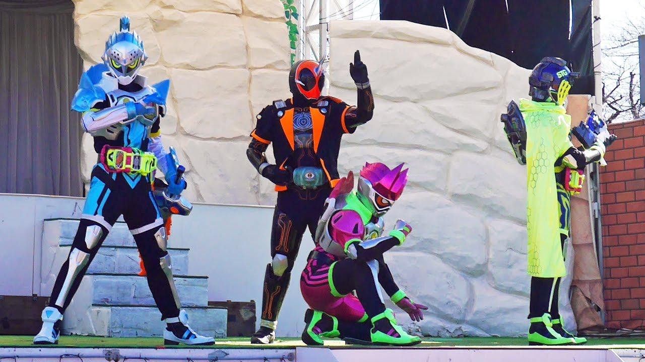 エグゼイドショー 【年末スペシャルショー】[ ゴースト・エグゼイド・スナイプ・ブレイブ集結!!] 最前列高画質@よみうりランド ☆ Kamen  Rider Ex,Aid(仮面ライダー