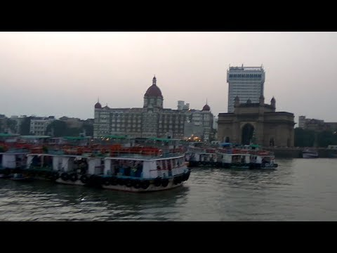 Gate way of india Mumbai (From ferry Boat) | Taj hotel mumbai