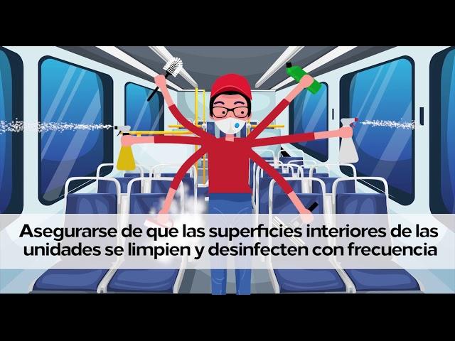 ¿Cómo reducimos la propagación del COVID-19 en el transporte público?