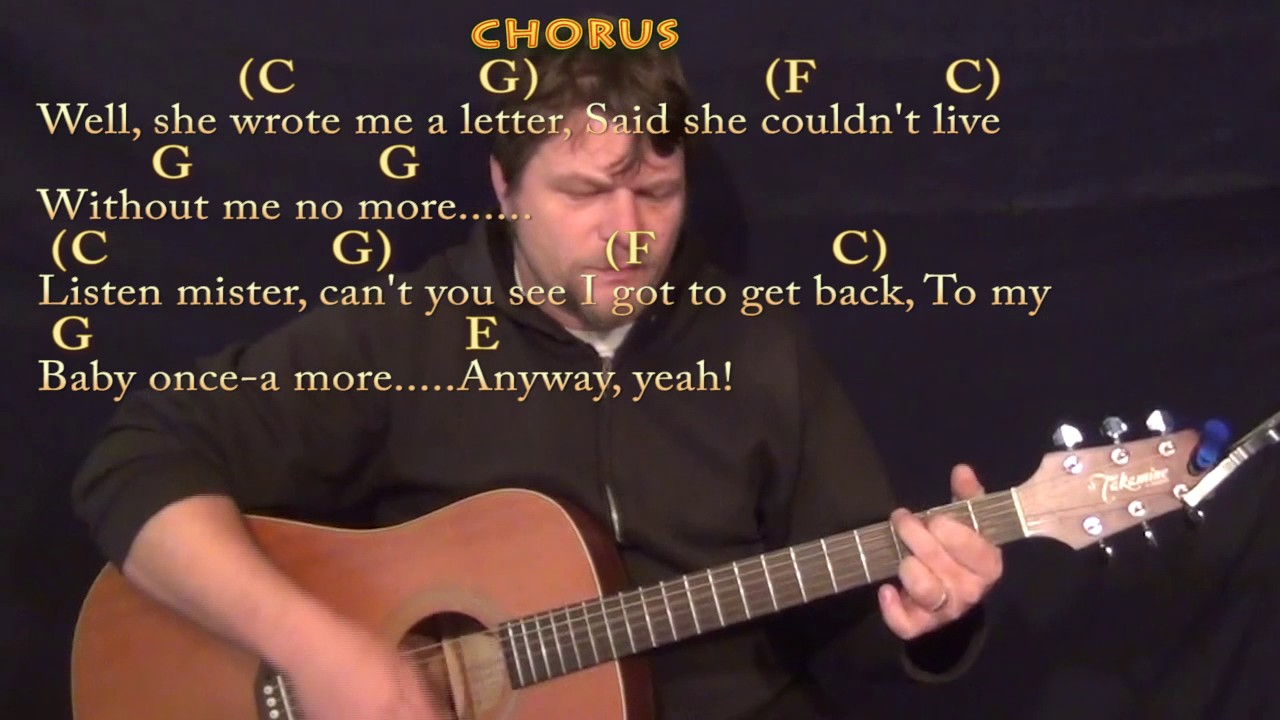 The Letter (The Box Tops) Guitar Cover Lesson with Chords/Lyrics
