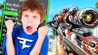 FAKE AIMBOT TROLLING ON CALL OF DUTY! (Black Ops 2 Mods)