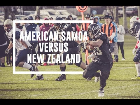 American Samoa vs NZ SteelBlacks Grid Iron Match 16 July 2016