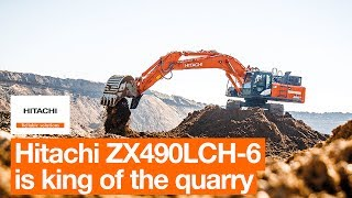 Hitachi ZX490LCH-6 is up for the challenge at Czech quarry