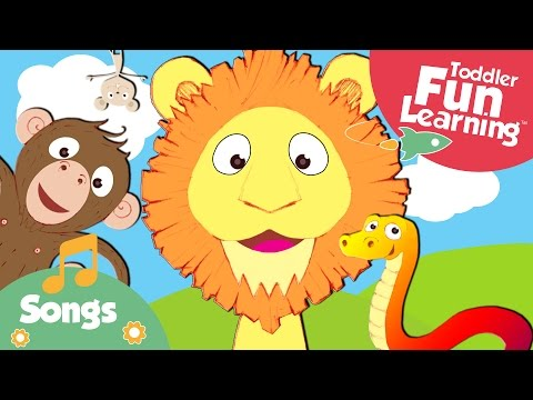 The Happy Animal Choir | Animal Sounds Song | Toddler Fun Learning