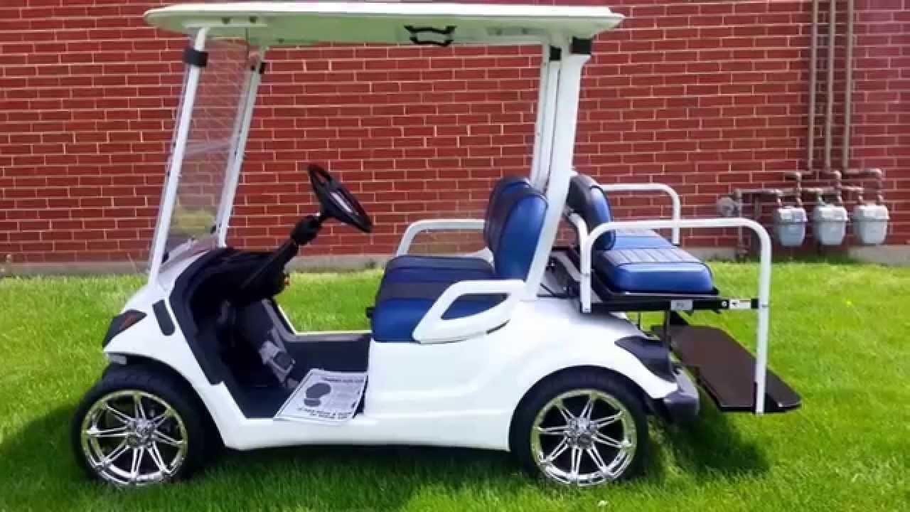 yamaha golf carts for sale. 2015 custom yamaha gas golf cart, base coat clear white, seats more! - youtube carts for sale w