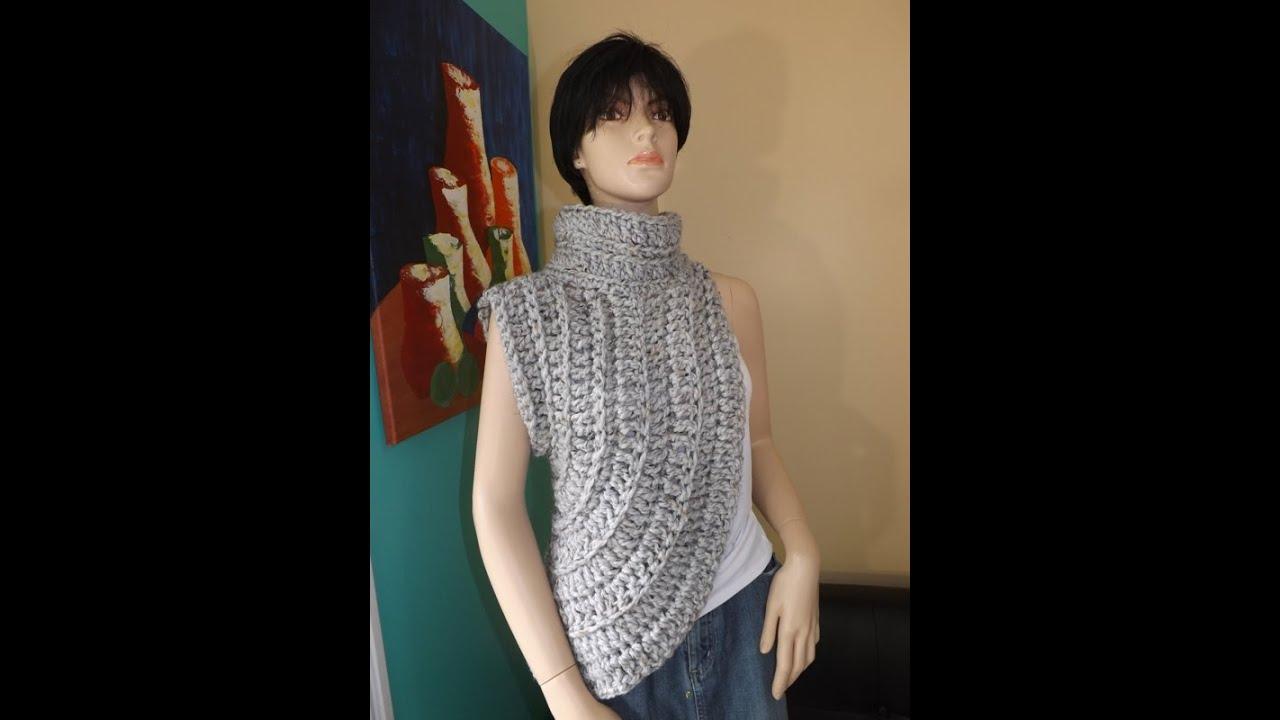 Crochet Calentador o Chalina Inspirado Por Katniss - YouTube