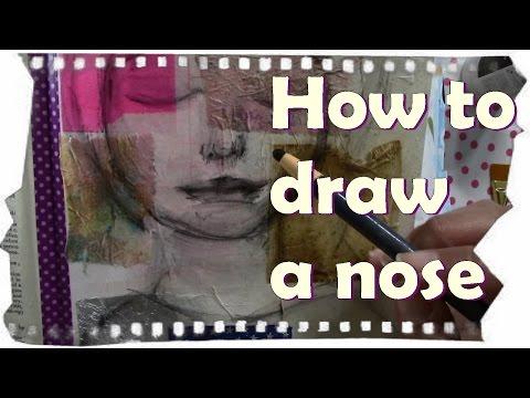 Art Hacks. How to Draw a Nose . Art Journaling ideas
