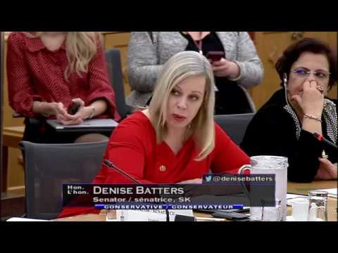 Senator Denise Batters Presses Minister Morneau For Accountability on His Unfair Tax Changes