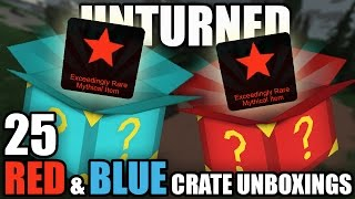 Unturned 3.0: 25 MYSTERY BOX OPENINGS (20 Red, 5 Blue)