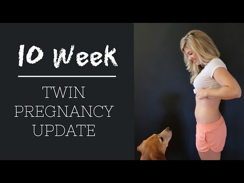 10 Week Twin Pregnancy Update | BUMP UPDATE - IVF Twin Pregnancy