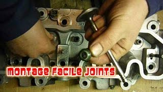 Changer joints queues de soupapes facilement