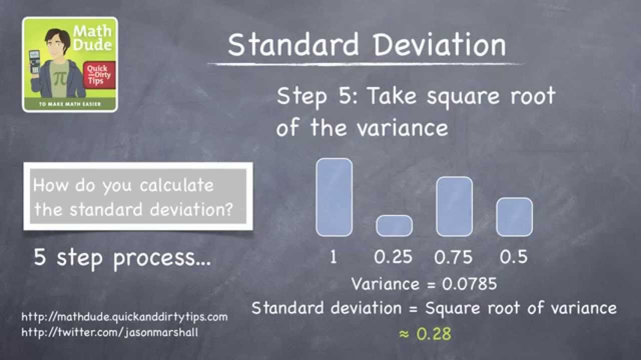 5 tips for understanding standard deviation - How To Really Calculate Standard Deviation With Math Dude Jason Marshall