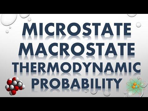 MICROSTATE, MACROSTATE AND THERMODYNAMIC PROBABILITY