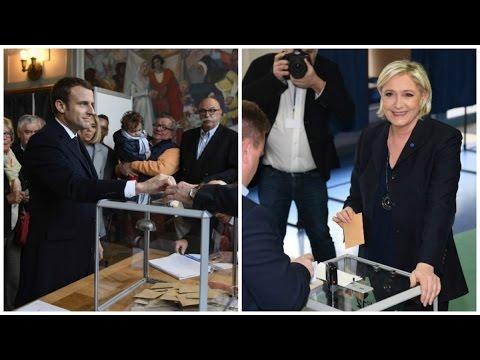 Présidentielle : Macron et Le Pen ont voté au Touquet et à Hénin-Beaumont