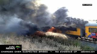 Another train consumed by fire in Cape Town