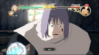 Naruto Shippuden: Ultimate Ninja Storm 2 - Sakura & Chiyo vs Sasori Boss Battle [PS3]