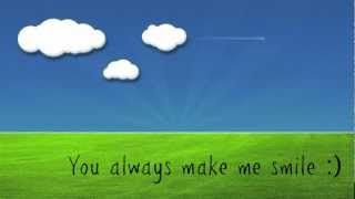 You Always Make Me Smile - Kyle Andrews (w/ Lyrics)