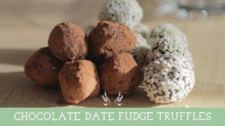 Chocolate Date Fudge Truffles | Healthy Snacks