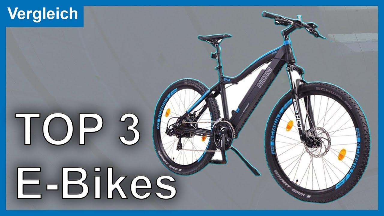 top 3 e bikes e bike vergleich test 2017 marken rich bit ncm youtube. Black Bedroom Furniture Sets. Home Design Ideas