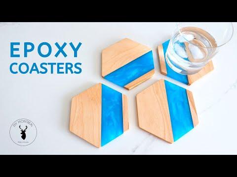Wood & Epoxy Hexagon Coasters