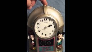 Seiko Mickey & Co. Musical Alarm Clock Disney With Lights