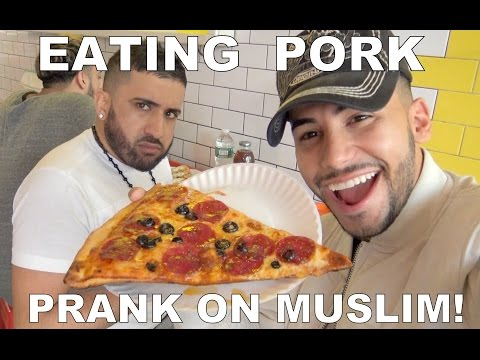EATING PORK PRANK ON MUSLIM!