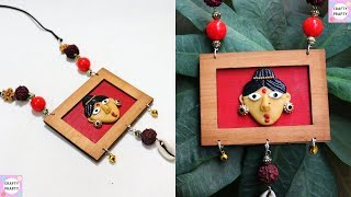 DIY Clay Jewelry Necklace / How to make  Necklace /  Bohemian Necklace