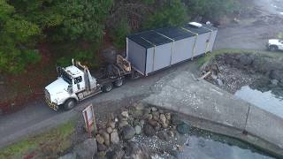 Westcoast Outbuildings: Hornby Island School Delivery