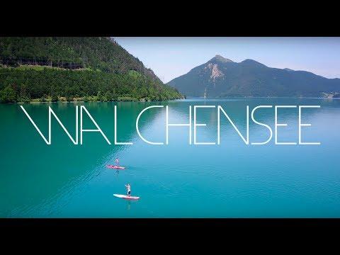 Walchensee (Kochel am See) Bayern - Bavaria - Summer - Alps - 4K Drone Footage