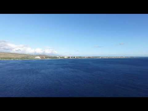 Koolina flying 11700ft offshore