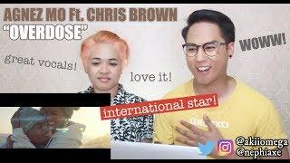AGNEZ MO - Overdose ft.  Chris Brown (Official Music Video) | REACTION
