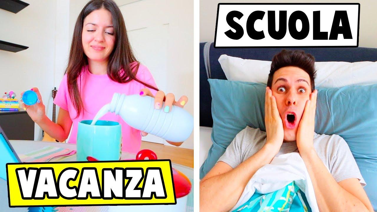 MORNING ROUTINE VACANZA VS SCUOLA!