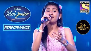 Nithyashree's Performance On 'Barso Re' Gets Standing Ovation | Indian Idol Junior 2
