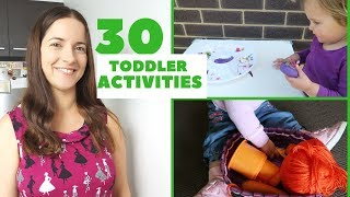 30 TODDLER ACTIVITIES AT HOME  | HOW TO ENTERTAIN A 1-2 YEAR OLD