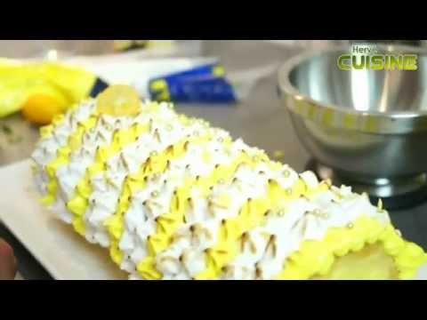 Buche de noel facon tarte au citron meringue