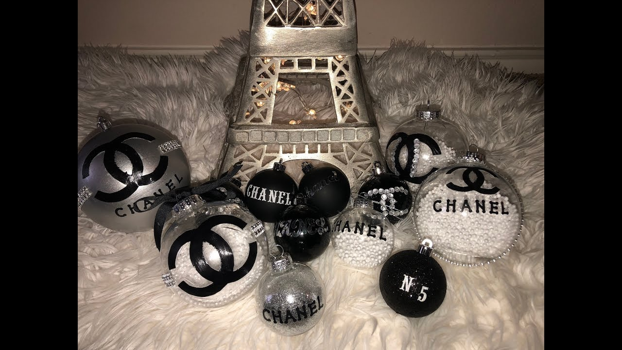 Chanel Christmas Ornaments.Dollar Tree Chanel Christmas Ornaments Diy