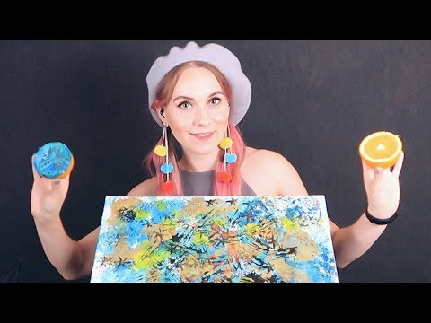 ASMR 🎨Tingling DRAWING using Food👣 will help you to relax, healing & deal with stress + GIVEAWAY