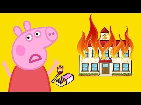 Свинка Пеппа Мультфильм Свинка Пепа чуть не СОЖГЛА свою ШКОЛУ! Peppa Pig