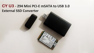 CY U3 - 294 Mini PCI-E mSATA to USB 3.0 External SSD Converter