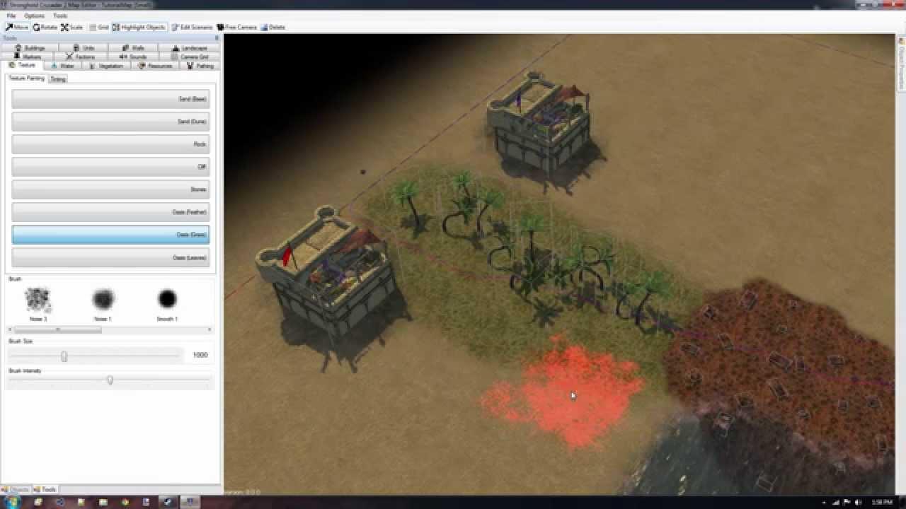 Stronghold crusader 2 custom map: raised corners 1v1v1v1 youtube.