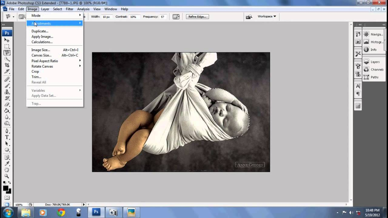 photoshop how to change black to white