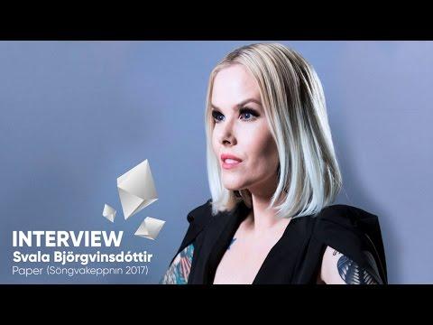Svala Björgvinsdóttir - Söngvakeppnin 2017 (Iceland) - Interview