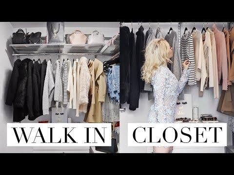 My Walk-In Closet Tour   PINTEREST INSPIRED