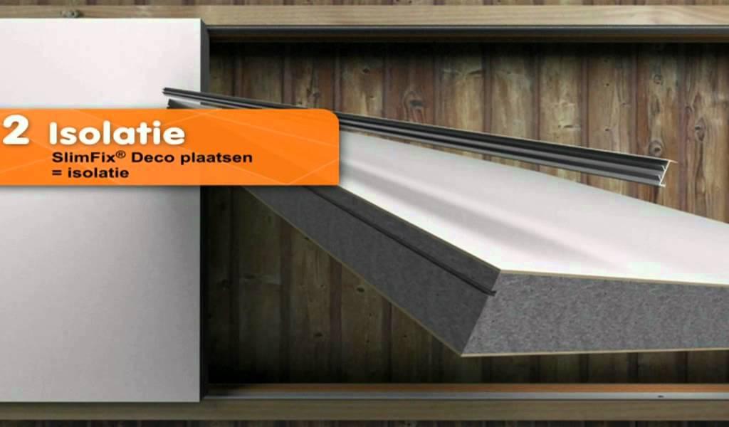 Slimfix deco decoratieve binnenisolatie voor het renoveren of na isoleren van hellende daken - Voor na deco ...