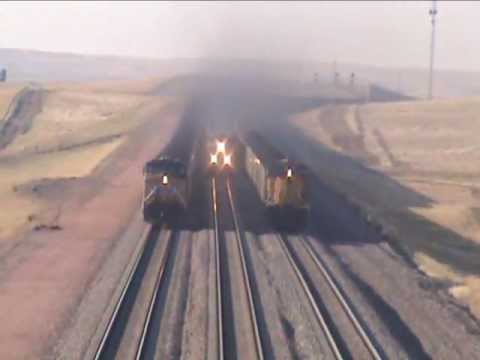 Thumbnail: Three UP Coal Trains South of Bill, WY