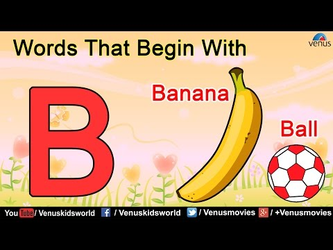 Words That Begin With 'B'