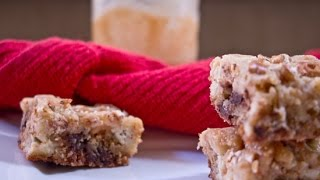 Salted Caramel Cheesecake Blondies   Rookies With A Cookie